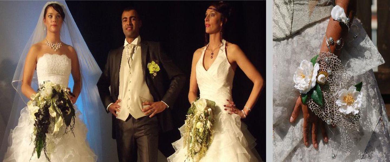 Défilé de robes de mariée et des bouquets de mariée sur compiègne et noyon